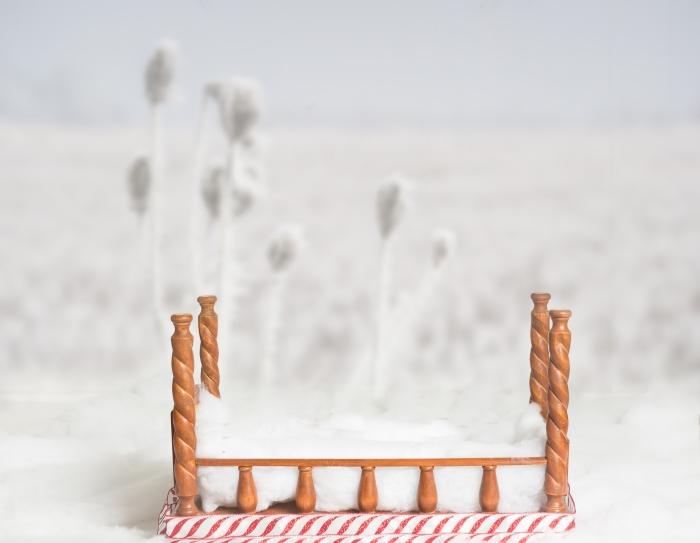 zimowy widok lozeczko